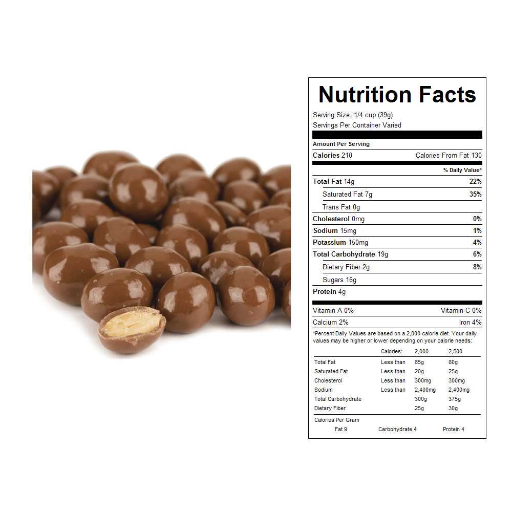 Milk Chocolate Panned Peanuts Bulk Candy (20 lbs)