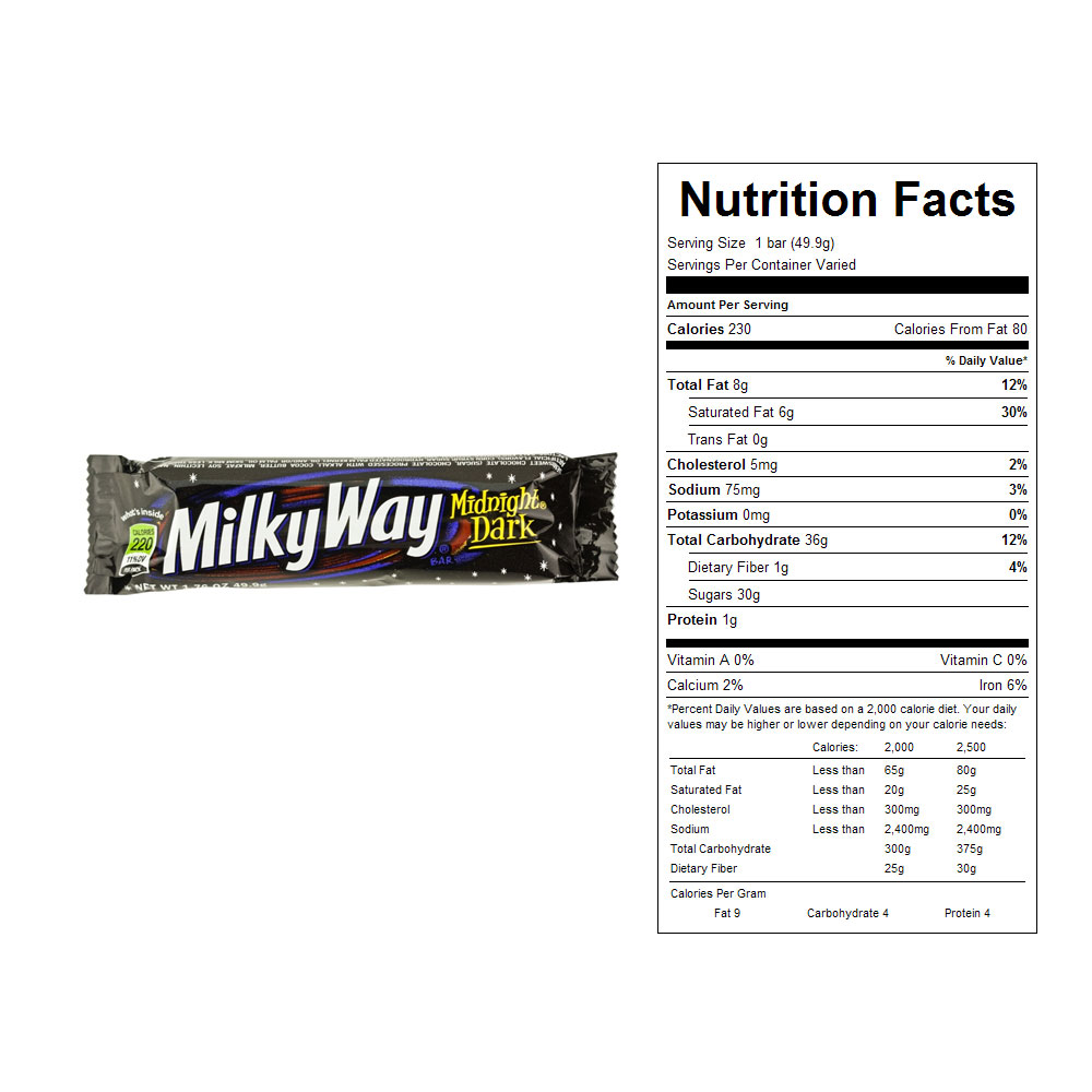 Milky Way Midnight Dark Candy Bars (24 ct)