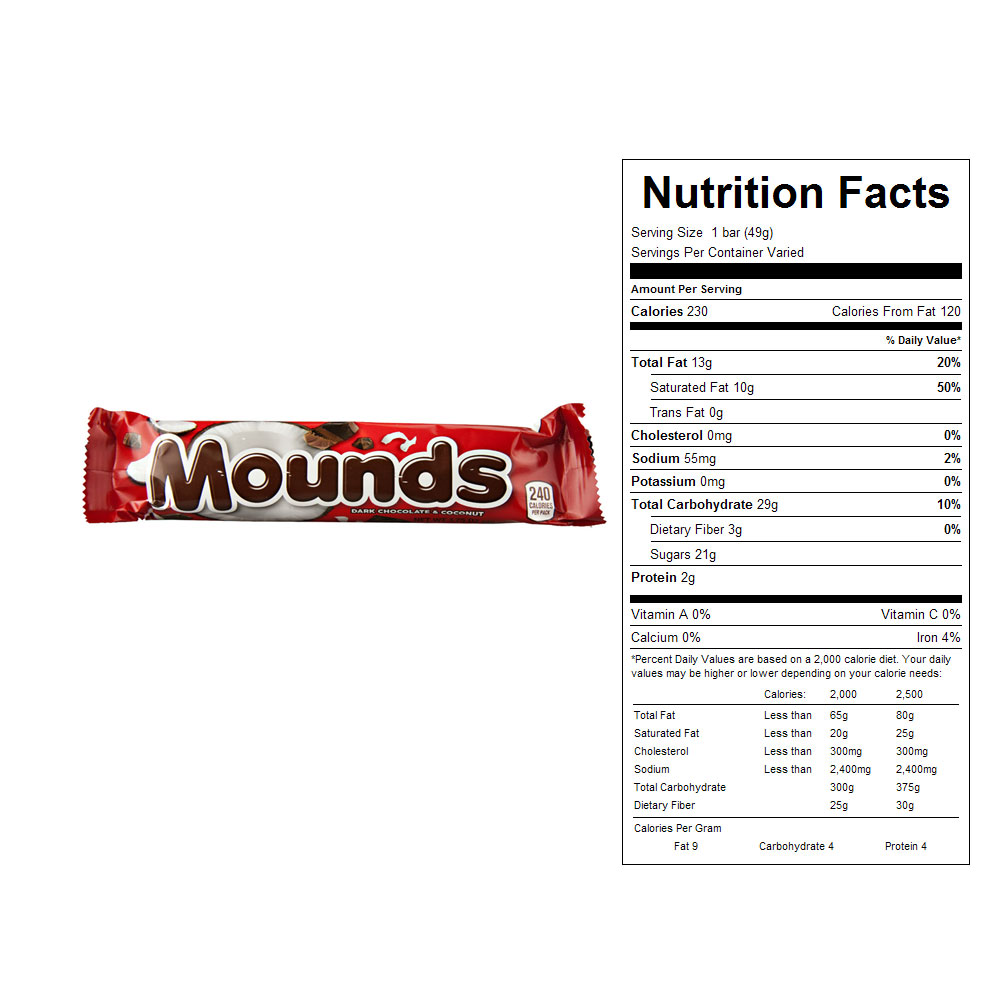 Mounds Candy Bars (36 ct)