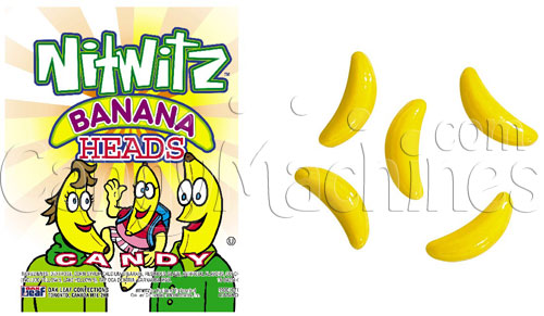 Nitwitz Banana Heads Candy