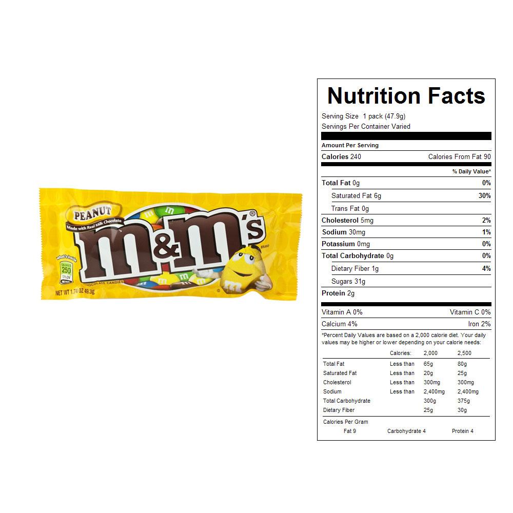 32 M&m Nutrition Label - Labels Design