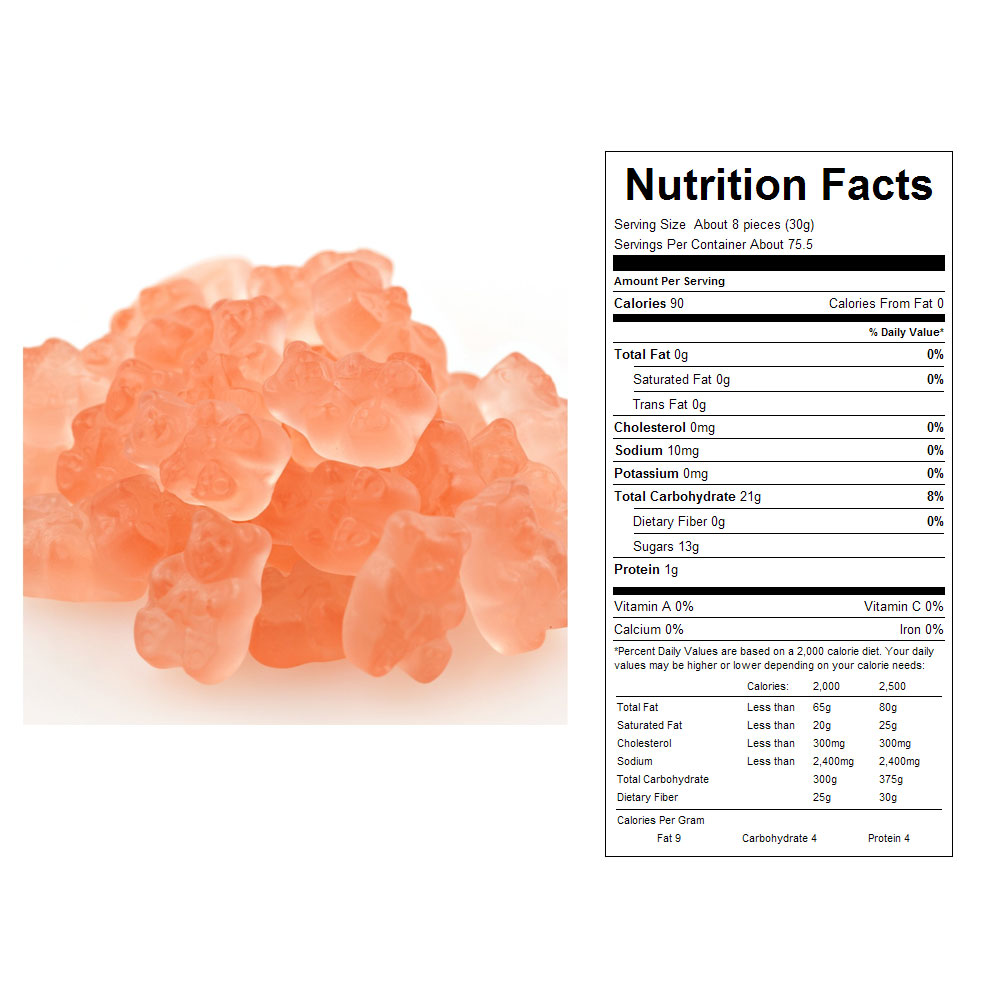 Pink Grapefruit Gummy Bears (20 lbs)