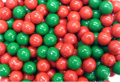 Sixlets Chocolate Candy Green & Red Mix