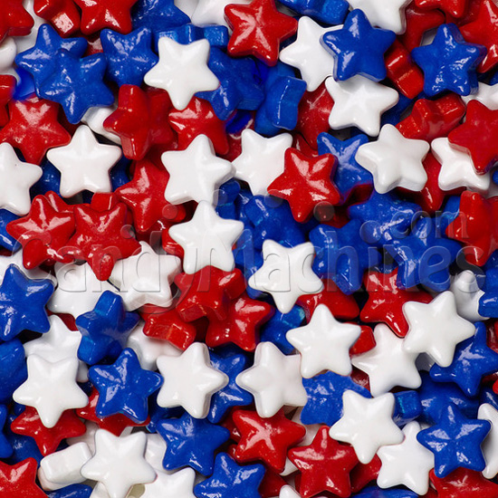 Red, White, and Blue Mix Stars Sweet Shapes Candy By The Pound