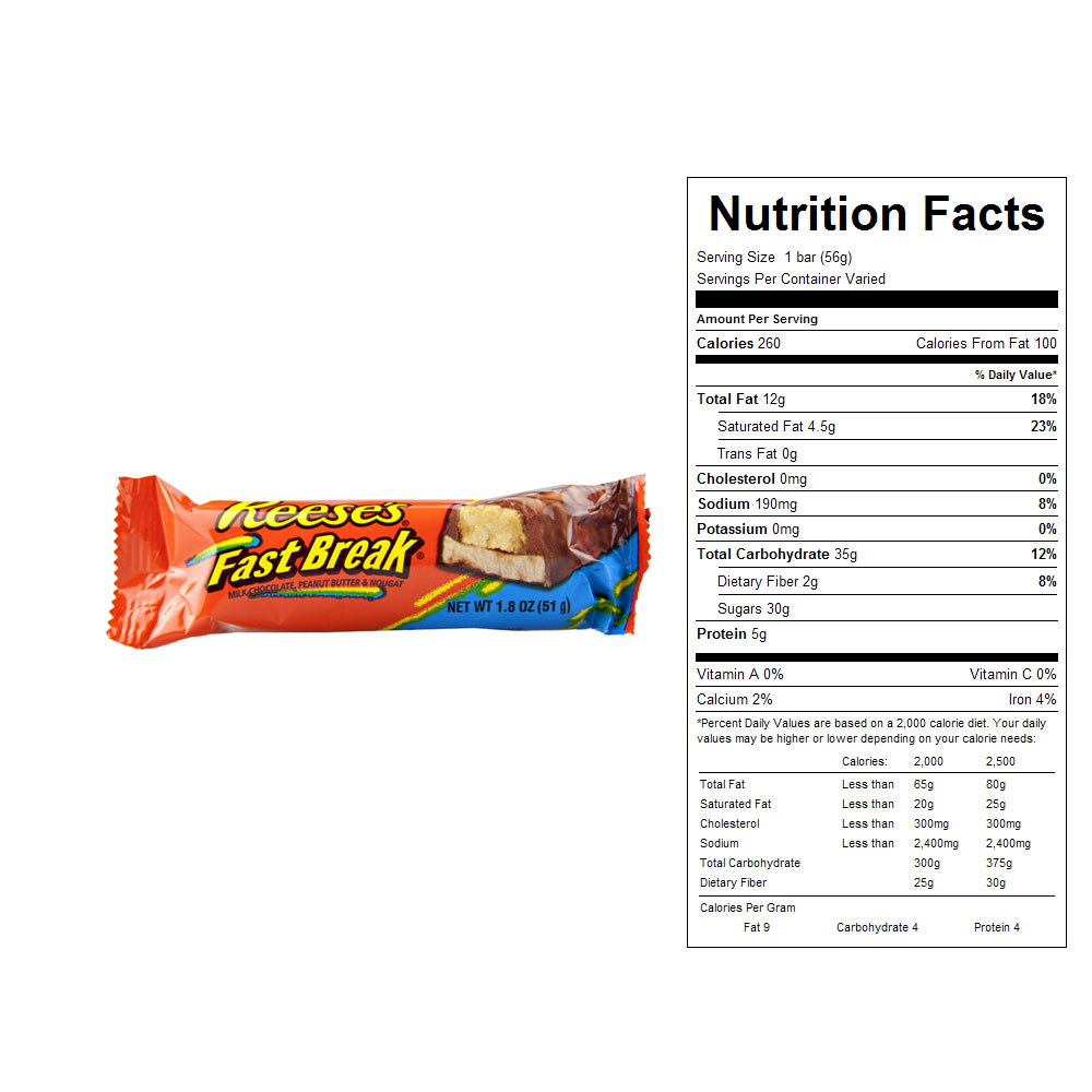 Reese's Fast Break Bars (18 ct)