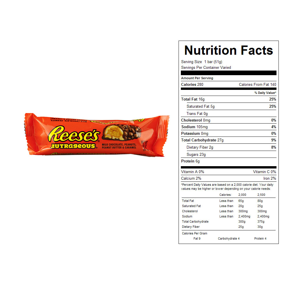 Reese's Nutrageous Bars (18 ct)