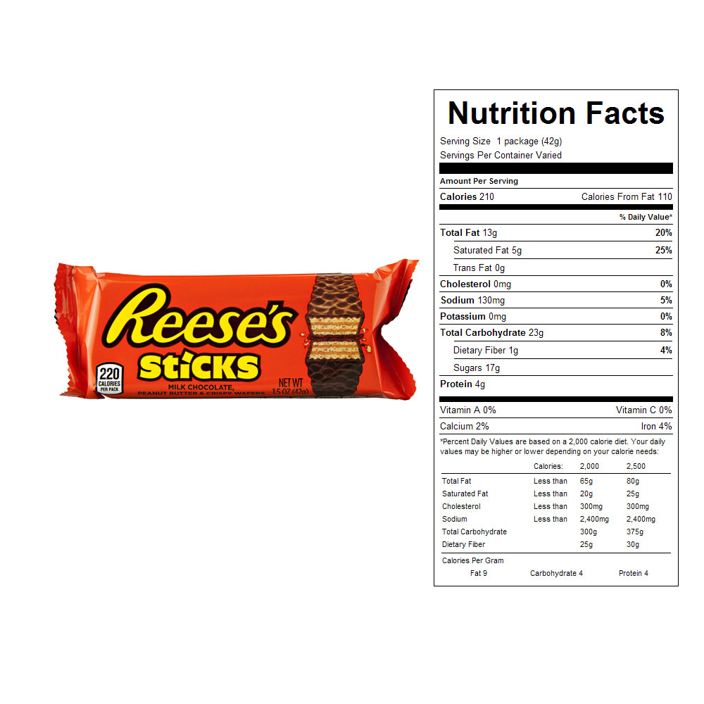 Reese's Sticks Candy Bars (20 ct)
