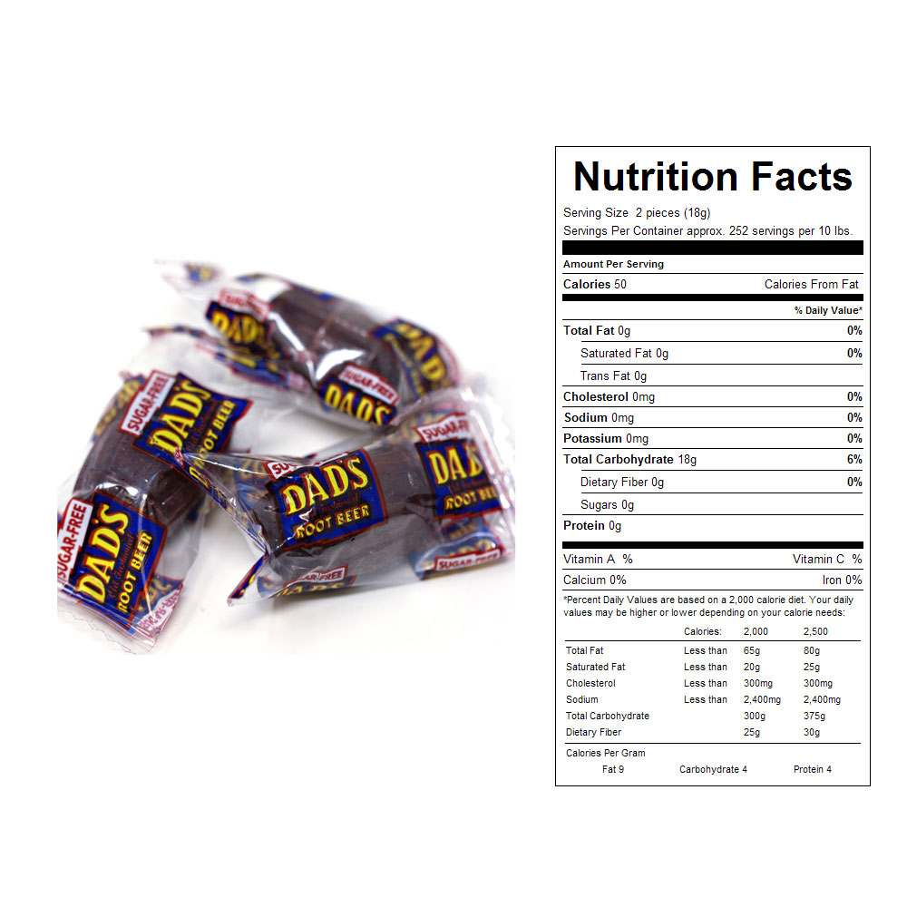 Sugar Free, Dad's Root Beer Barrels Bulk Candy (10 lbs)