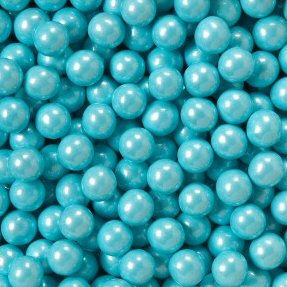 Shimmer Powder Blue Sixlets Candy Coated Chocolate Balls