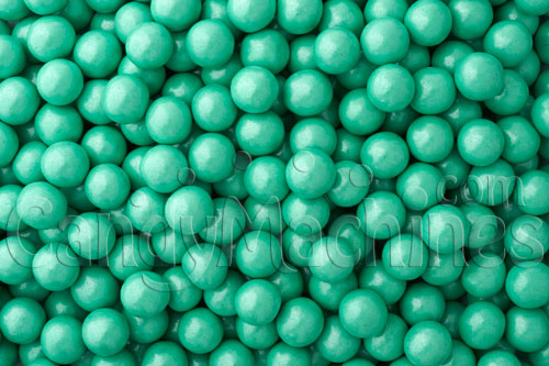 Bulk Vending Sixlets Shimmer Turquoise Candy - 10 lbs.