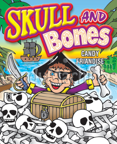 Skull and Bones Candy Vending Display Card