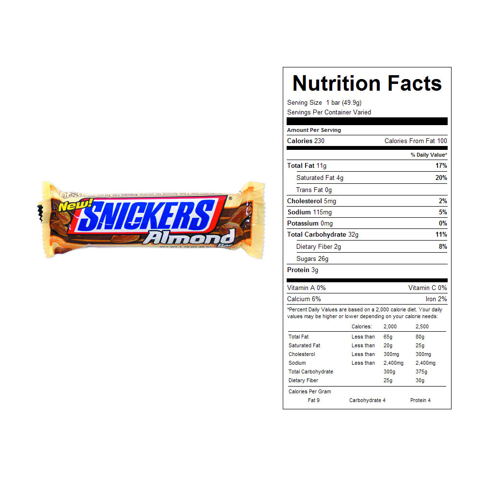 Snickers Almond Candy Bars (24 ct)