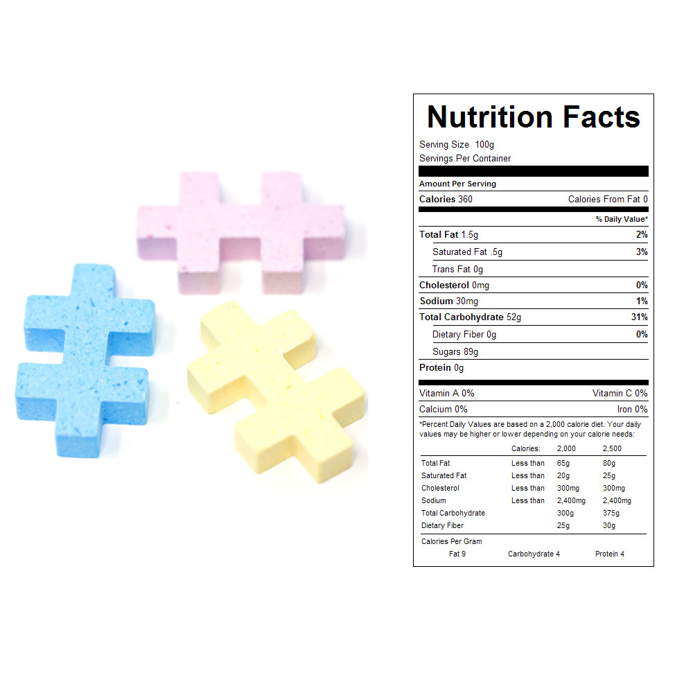 Strux Bulk Candy - Nutrition Facts