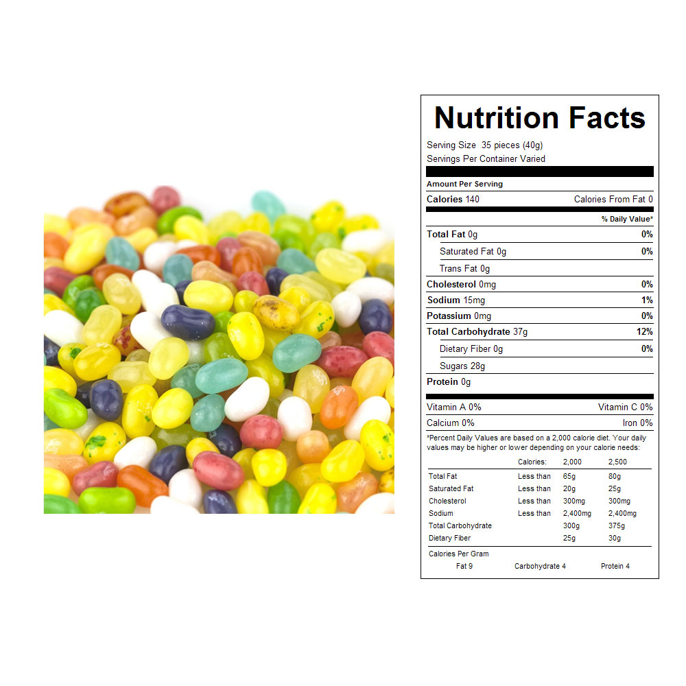 Jelly Belly Tropical Mix Jelly Beans Bulk Candy (10 lbs)