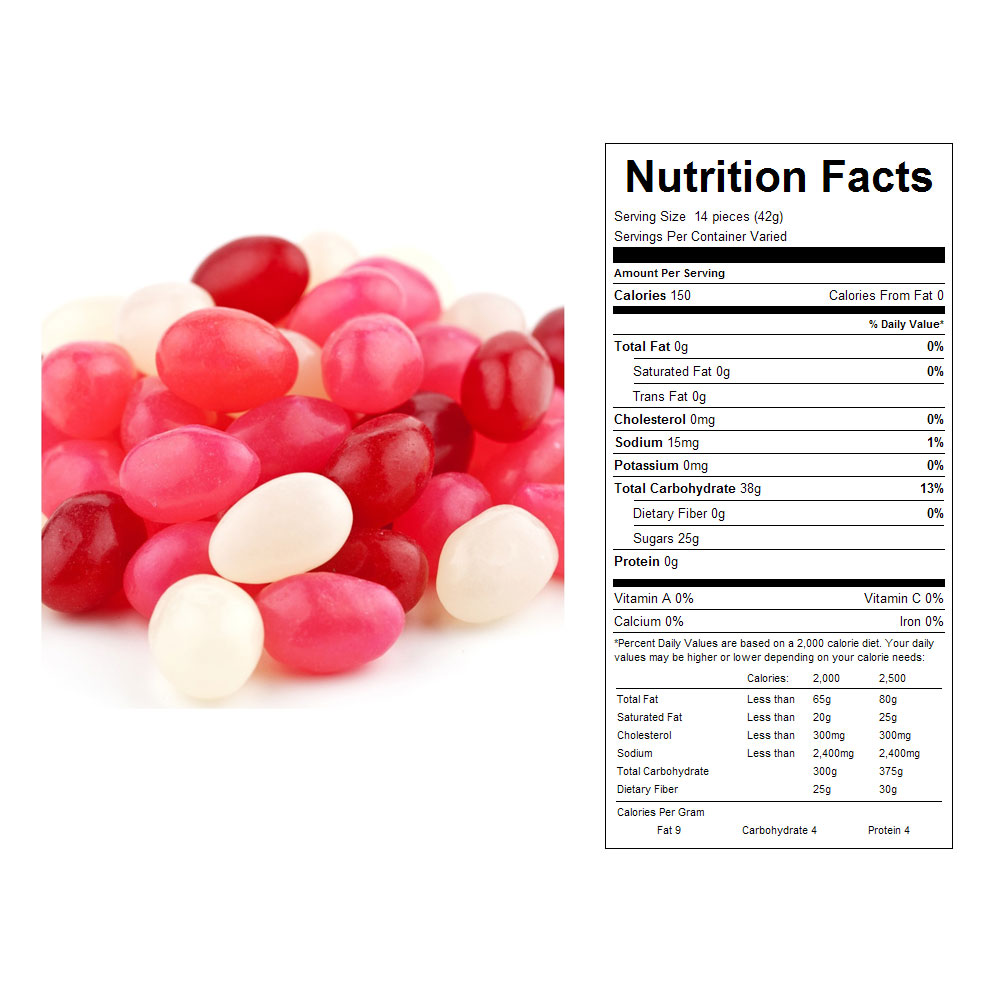 Valentine Jelly Beans Bulk Candy (31 lbs)