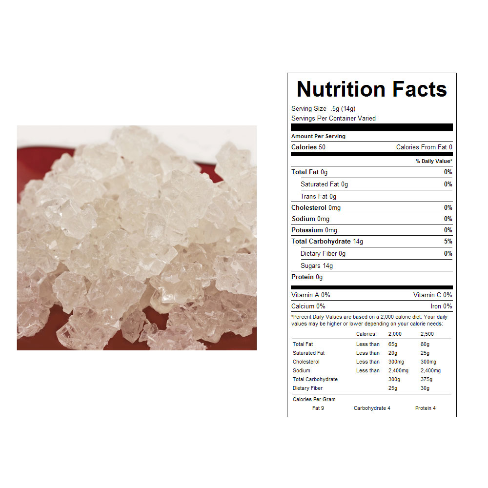 White Rock Candy On A String Bulk Candy (5 lb)