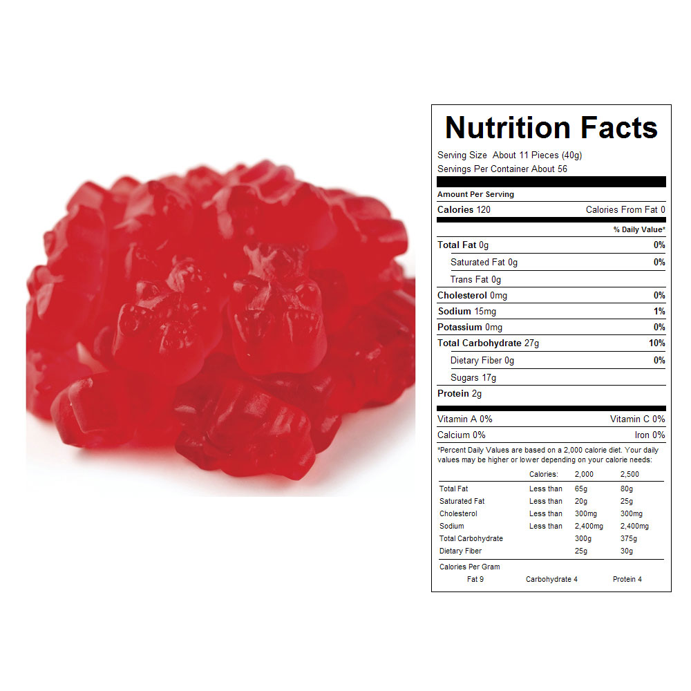 Wild Cherry Gummy Bears (20 lbs)