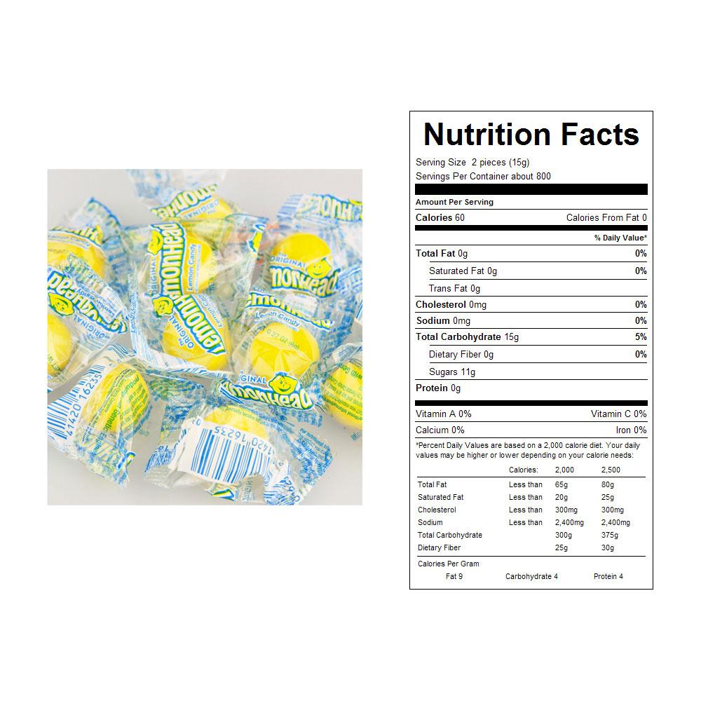Wrapped Lemon Heads Bulk Candy (27 lbs)