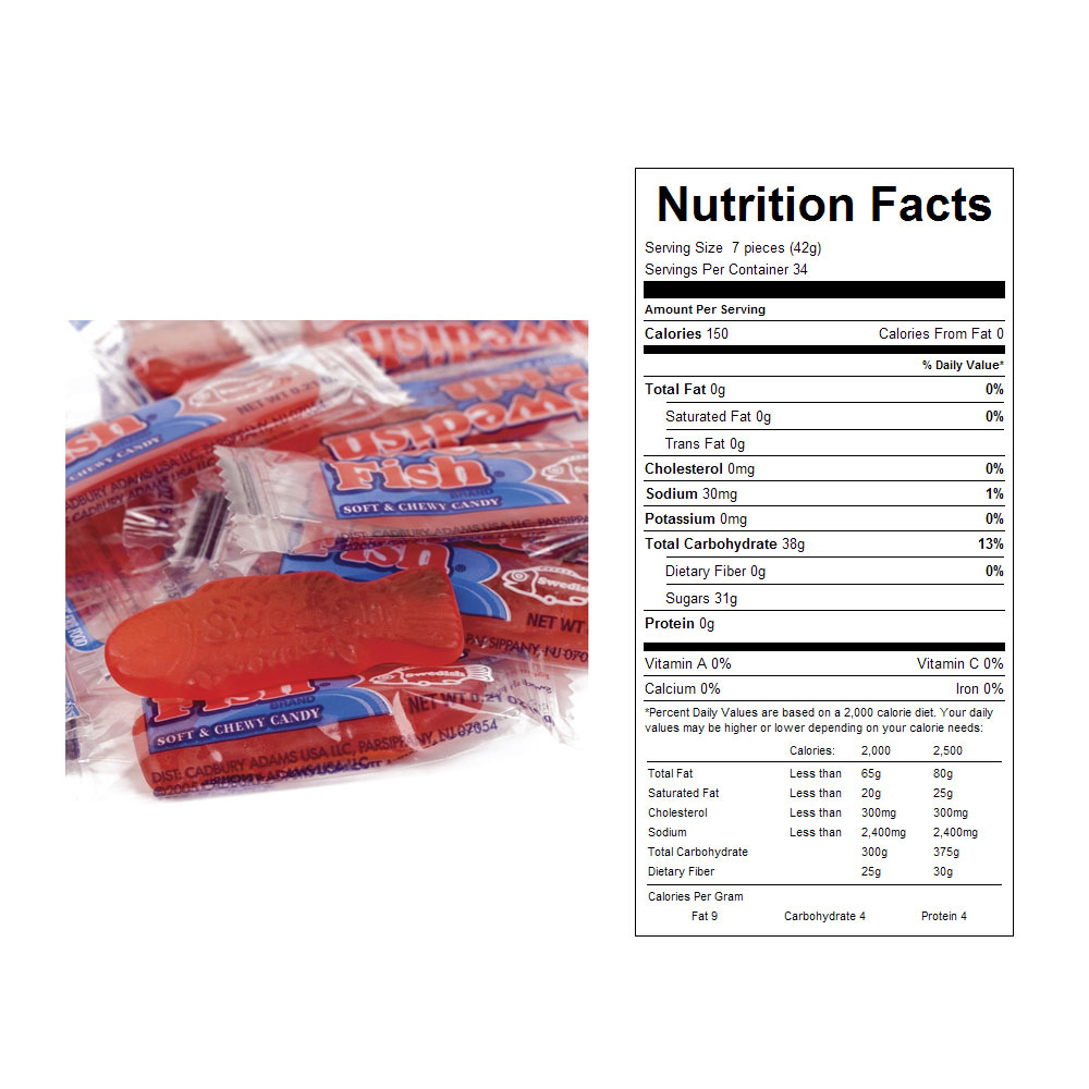 Wrapped Swedish Fish Bulk Candy (240 ct)