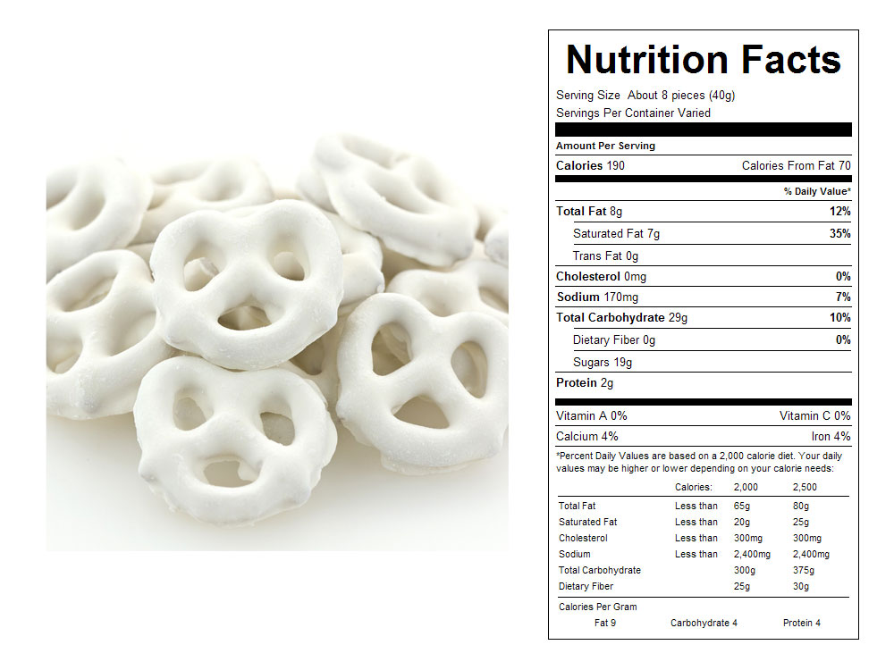 Yogurt Covered Pretzels - Nutrition Facts