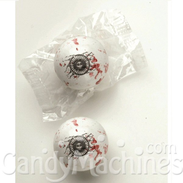 "Spooky Eyes 1"" Single Wrapped Gumballs"