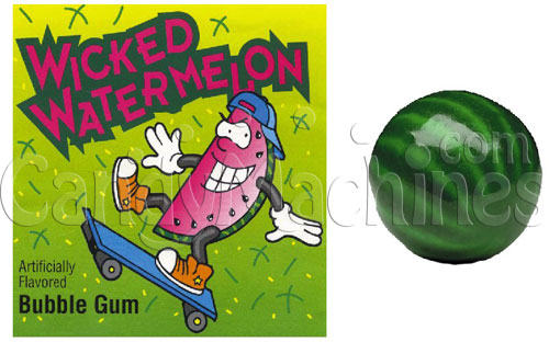 Wicked Watermelon Bubble Gum Gumballs