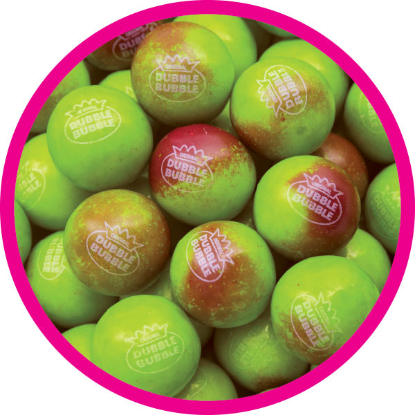 Dubble Bubble Apple Cinnamon -  Tub of Gumballs