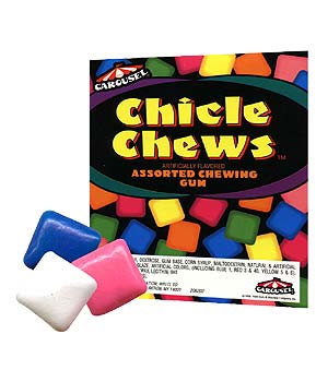 Assorted Chicle Chews Tablet Gum