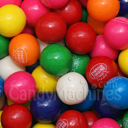Assorted Dubble Bubble Logo Gumballs