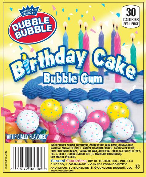 Dubble Bubble Birthday Cake Gumballs