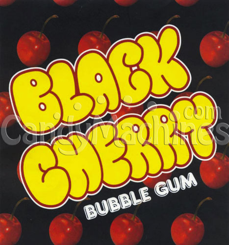 Black Cherry Gumballs Vending Display Card