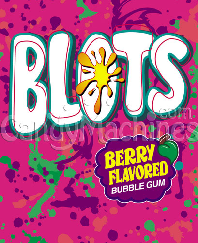 Blots Berry Flavored Bubble Gum Vending Display Card