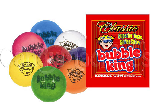 Bubble King Soft Chew Gumballs w/ Logo - Click Here To Buy!