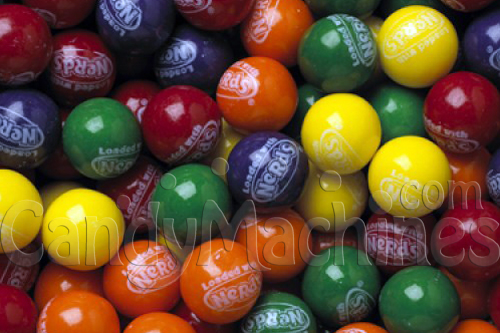 Bulk Vending Gumballs Loaded with Nerds Candy - 850 ct.