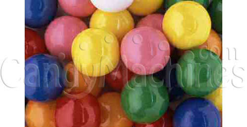 Bulk Vending Bubble King Assorted Solid Color Gumballs - 1900 count