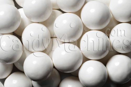 Bulk Vending Solid White Color Gumballs - 850 ct.