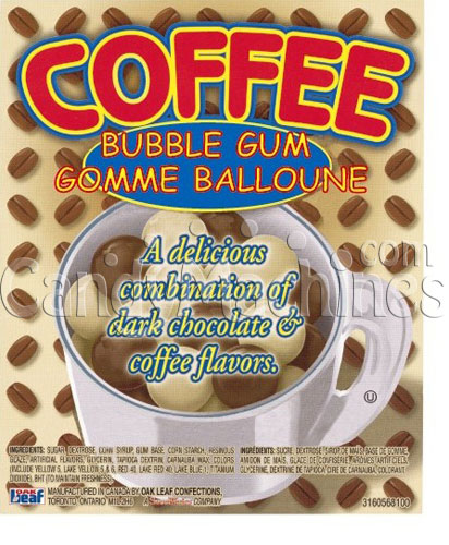 Coffee Time Gumballs Vending Display Card