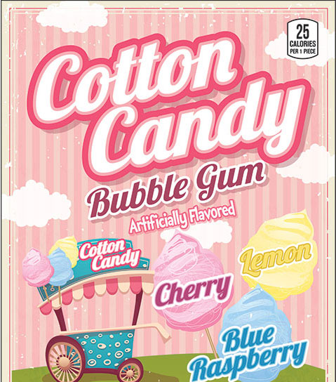 Cotton Candy Gumballs - 1080 ct.