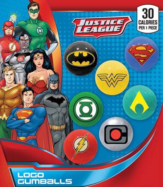 DC Comics Logo  Gumballs - Display Card