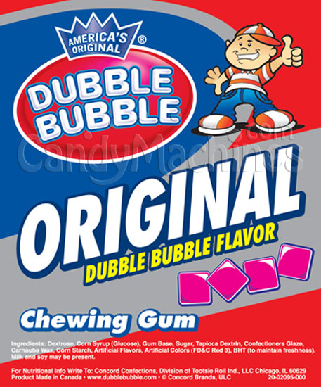 Dubble Bubble Original 1928 Pink Chewing Gum Tablets