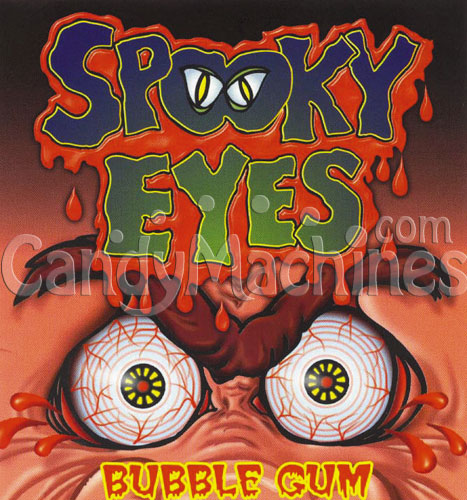 Spooky Eyes Bubble Gum Vending Display Card