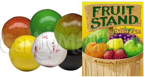 Fruit Stand Fruits Bubble Gum - 1430 ct. Gumballs