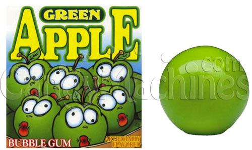Green Apple Flavored Bubble Gum - 1080 ct. Gumballs