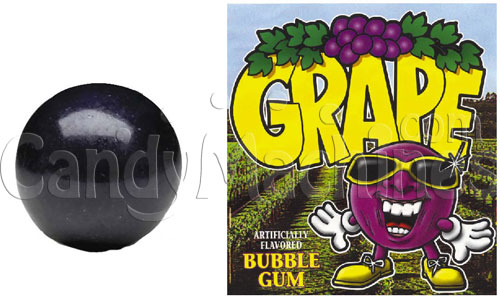 Grape Flavored Bubble Gum Gumballs