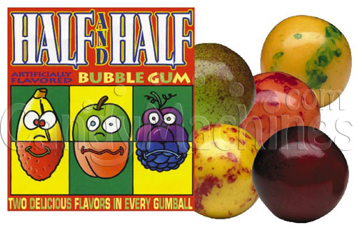 Half & Half Fruits Gumballs 1080 ct.