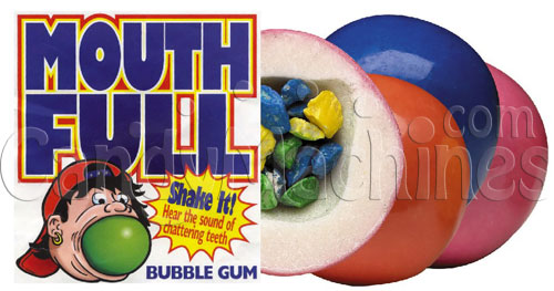 Mouth Full Giant Gumballs