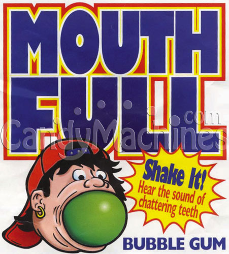 Mouth-Full Unfilled Giant Gumballs Vending Display Card