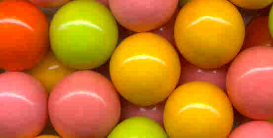 Neon Color Gumballs By The Pound