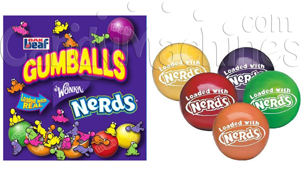 Nerds Candy Center Gumballs - 850 ct.