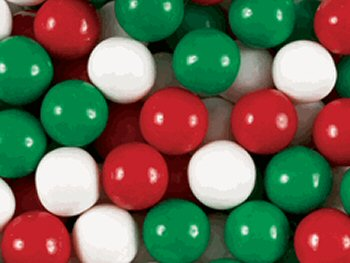 Red, White & Green Gumballs